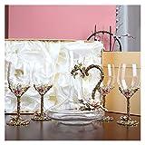 AHAI YU Cristal Premium - Cata de vinos Gafas Rojas, Conjunto de Regalo de Vino, Regalos de Vino Embalaje de Caja, Copa de Vino de Cristal Premium para vinos Blancos o Rojos