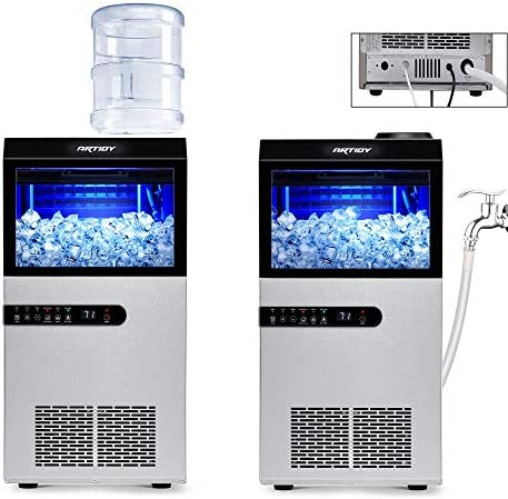 Artidy Commercial Ice Maker Machine 100LBS 24H Clear Ice Cube Stainless Steel Under Counter product image