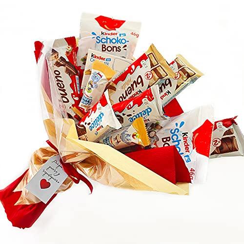 Regalo Original de Kinder Bueno. Ramo dulce relleno con un surtido de chocolatinas Kinder ideal para regalar por el día de la madre