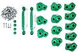 Powerfly Klettergriffe für Kletterwand Kinder Set mit Haltegriffe - 12 Stück Klettersteine mit...