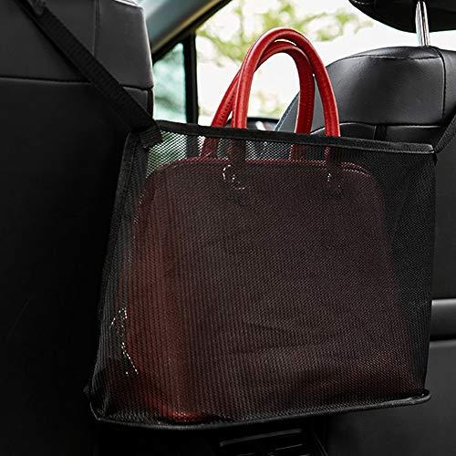 Lifellery Organizador de bolso de malla para coche, entre asientos para guardar monedero, documentos de teléfono, billetera, bolsa de red para asiento trasero para taza de agua (estilo 1, negro)