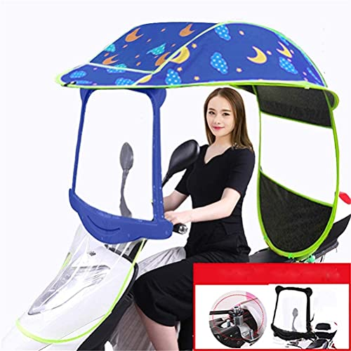 J&X Bicycle Electric Sun Shade Tow Cover, Universal Car Motor Scooter Umbrella Mobility Sun Paraguas Impermeable, 2, A (Color : 4, Size : A)