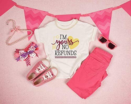 I'm Max 82% OFF yours no Popular overseas refunds-little Valentine's girl day shirt