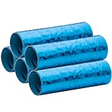 Luftschlangen Holografik Metallic Blau 5er Sparpack - 5 Rollen mit je 18 holografisch-glitzernden Luftschlangen - für Karneval, Fasching, Geburtstag, Silvester, Dekoration - PARTYMARTY GMBH®