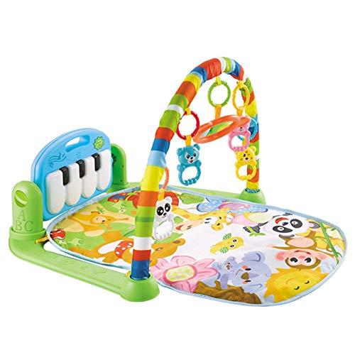 Raburt Alfombrilla de juego para bebés de 0 a 3 a 6 a 12 meses, para jugar en el gimnasio o en el vientre con piano, juguete para recién nacidos