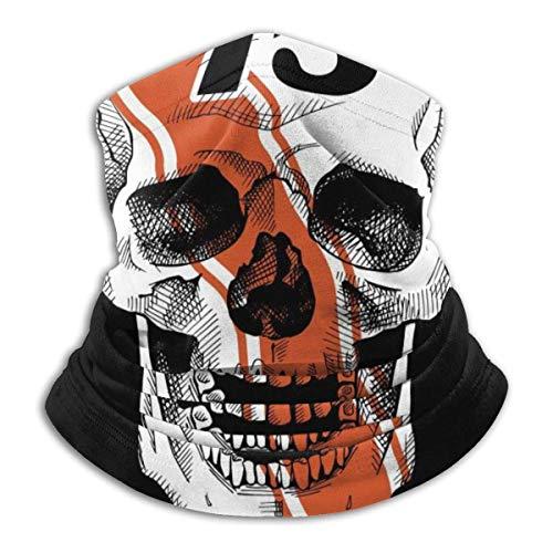Racer Sonriente Emblema del cráneo. Ilustración Vectorial Cómoda Capucha de pasamontañas con Calentador de Cuello de vellón
