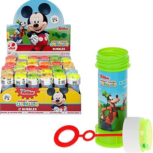 ColorBaby - Caja 36 pomperos, pompero Mickey Mouse, 60 ml, pomperos de jabón, pomperos infantiles, pomperos para niños cumpleaños, juguetes Mickey Mouse, Goofy, Pluto, Donald