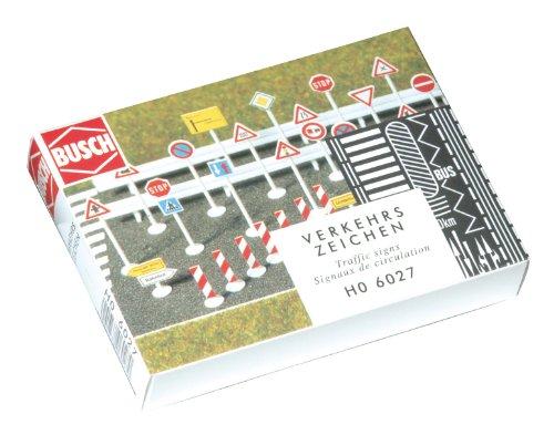 Busch 6027 H0 Verkehrszeichen-Set