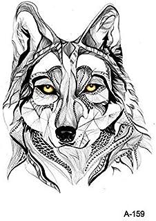 Tatuaje temporal palo lobo hembra animal sexy falso falso impermeable hombres cuerpo brazo arte figura tatuaje pegatina 10 piezas D