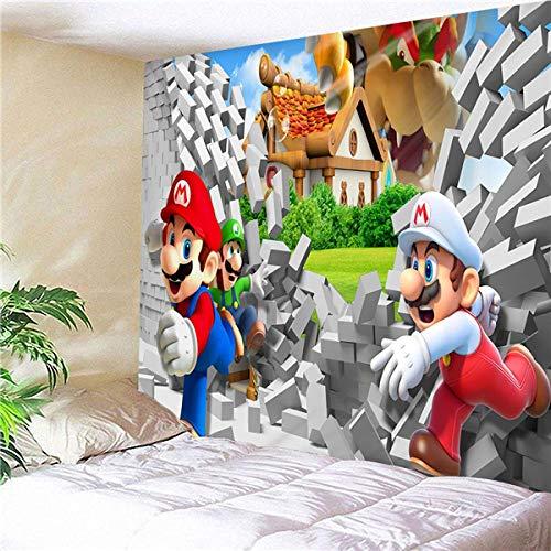 CFDK Tapiz Super Mario Bros para Colgar en la Pared, Alfombra, Dormitorio, tapices, Arte, decoración del hogar