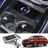 Chargeur de Téléphone sans Fil, Tapis de Charge sans Fil Qi 15W pour BMW X3 X4 2018 2019 2020 2021...