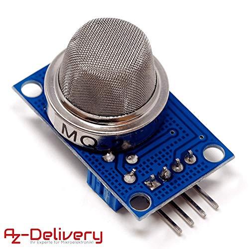 AZDelivery Módulo de Calidad del Aire del Sensor de Gas MQ-2 para Arduino con eBook incluido