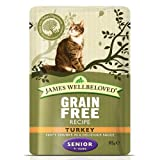 James Wellbeloved Complete Wet Senior Cat <span class='highlight'>Food</span>, Turkey, 12 x 85 g
