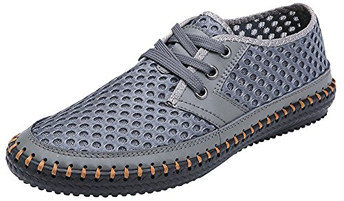 MIXSNOW Men's Poseidon Slip-On Loafers Water Shoes Casual Walking Shoes Gray40 Grey