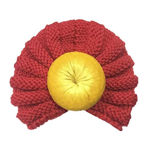 Momola 12 Couleurs Style Indien Noeuds Bonnet Bébé, Mode Chapeau Bandeau Turban Noeud Mou Tête Wraps pour Bébé Filles Bonnet Nouveau-Né Tout-Petits pour 0-2 Ans (J)