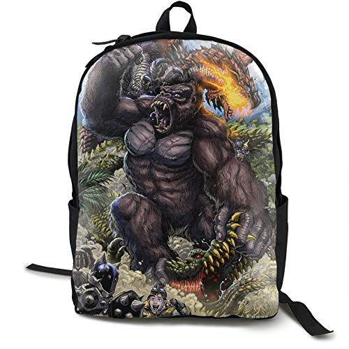 Skullcrawlers Furry Skull Island comics Monkey Orangutan Earl Cole KINGDOM Tablet Rucksack Large capacity Calendar Teen,Boys,Girls,Student Cycling Hiking,Study
