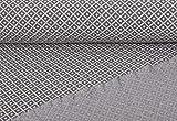 Jacquard Strickstoff, Grau, als Meterware zum Nähen von