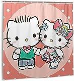 Hello Kitty - Tenda da doccia con 12 ganci in plastica