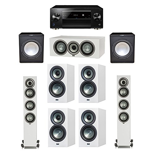 Read About ELAC Uni-Fi Slim White 7.2 System with 2 FS-U5 Floorstanding Speakers, 1 CC-U5 Center Spe...