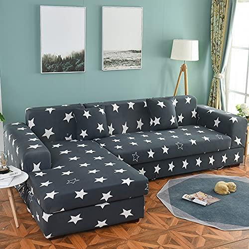 Funda de sofá elástica seccional elástica para sofá de Sala de Estar Funda de sofá en Forma de L Funda de sillón A19 2 plazas