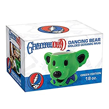 ICUP Grateful Dead Dancing Bears Mug   Large Bear Coffee Gift   Drinking Figurine Cup  Green