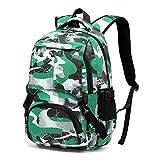 BLUEFAIRY Kids Backpacks for Boys Girls Elementary School Bags Bookbag Kindergarten Primary Secondary (Green Camo)
