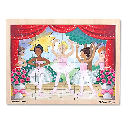 Melissa & Doug Ballet Performance Wooden Jigsaw Puzzle (48 Pieces, Great Gift for Girls and Boys - Best for 3, 4, and 5 Year Olds)