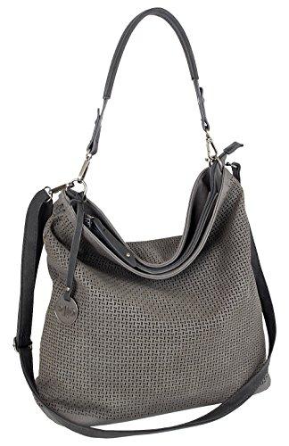 J JONES JENNIFER JONES Damen Tasche Schultertasche Große Umhängetasche in 5 Farben Handtasche für Frauen Sommer Design Crossbody (3126) (Grau)