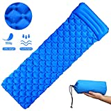 Inflatable Sleeping Mat Ultralight Inflating Camping Mat Waterproof Inflatable Sleeping Pads with Pillow...