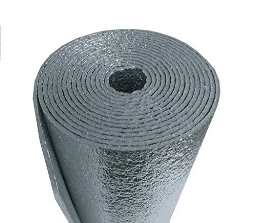25 Sqft R-8 HVAC Duct Wrap Insulation Reflective 2 Sided Foam Core 12' x 25'