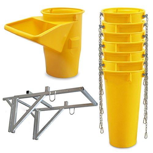 Profi Schuttrutsche Bauschuttrutsche Baurutsche 8 m, Set aus 7x Schuttrohr, Gestell und Einfülltrichter