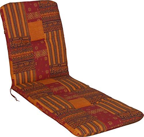 Angerer Liegenpolster Design Indian Summer, terracotta, 190 x 60 x 6 cm, 2105/038