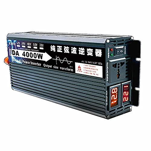 SJZD Inversor Inteligente de Onda sinusoidal Pura, 12V / 24V / 48V / 60V a 220V, 3000W-8000W Opcional, Alta Potencia para Viajes al Aire Libre en vehículos recreativos, 4000W-60V