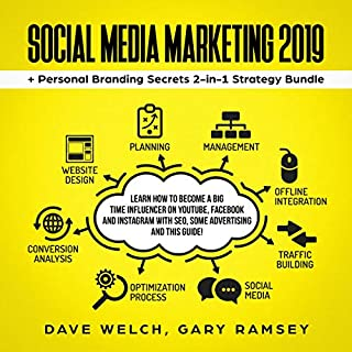 Social Media Marketing 2019 + Personal Branding Secrets 2-in-1 Strategy Bundle audiobook cover art