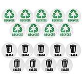 Fdit Etiqueta engomada de la Basura, 18PCS/Set Impermeable Autoadhesivo Reciclar la Etiqueta engomada de la Basura para los contenedores de Basura de Las latas