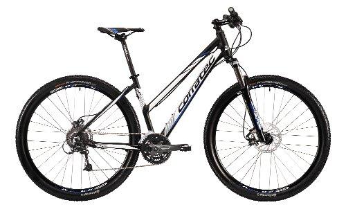 Corratec Damen Fahrrad MTB X Vert 29 04 Trapez, Schwarz/Weiß/Blau, 39, BK17032-0039