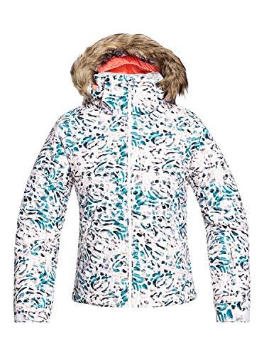 Roxy Jet Ski - Chaqueta Para Nieve Para Niñas 8-16 Chaqueta Para Nieve, Niñas, bright white izi, 12/L
