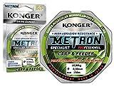 Konger Metron Specialist Pro Carp & Feeder - Hilo de pesca (150 m, 0,18 mm/5 kg)