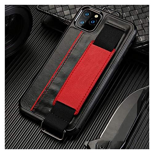 qazwsx Compatible con para iPhone 11 Pro Case, Pulsera de Cuero Multifuncional de Apple 11, Estuche para teléfono móvil Anti-Drop Deportes al Aire Libre.