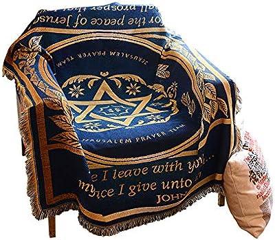 Manta de sofá Manta de tiro de borla de punto 100% algodón de ...