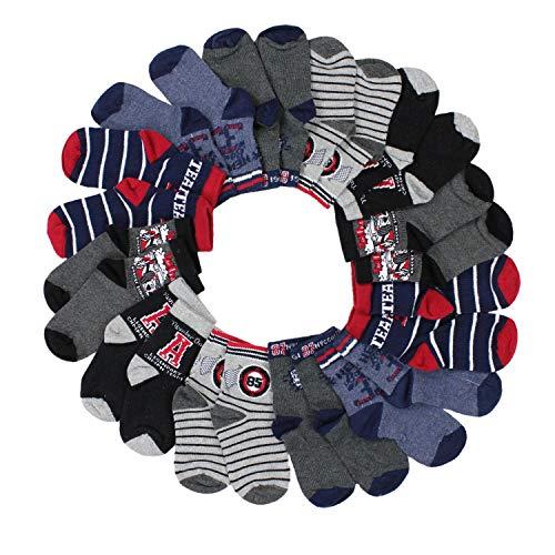TupTam Baby Kinder Jungen Socken ohne Naht 12er Pack, Farbe: Farbenmix 1, Socken Größe: 18-20