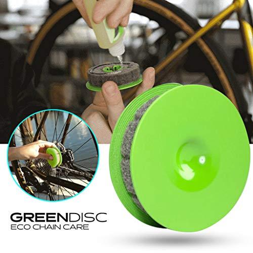 C FBGood Kettenscheibe, Kettenreiniger, Werkzeug zur Reinigung von toten Ecken, Werkzeug zum Abwischen von Öl-Rollen, Dekontamination, Rost grün
