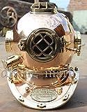 historicalmuseumstore Antique Morse U.S Navy Tauchhelm, massives Kupfer und Messing, Volle Größe...
