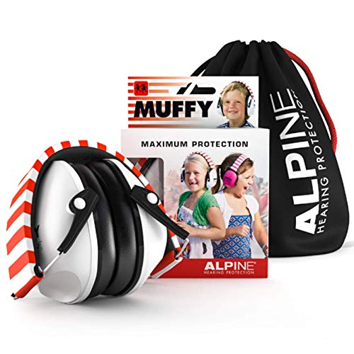 Alpine Muffy Ear Defender Kids - Hearing Protection for Children and Toddlers - Earmuffs to prevent hearing damage and reduce noise - Robust and easy to store - Comfortable fit - White