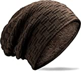 MUCO Wintermütze Damen und Herren Beanie, Unisex Winter warme Gestrickte Slouch Beanie mütze, Elastische Strickmütze.