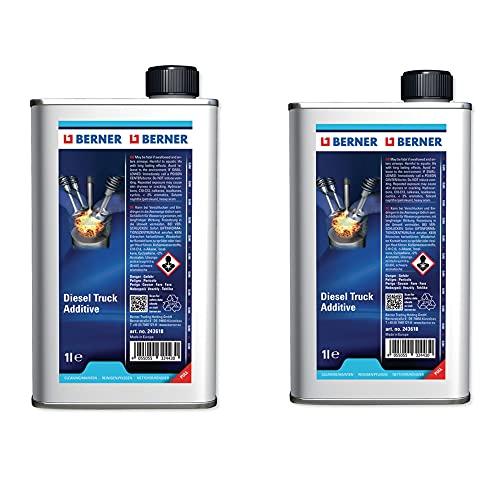 Berner Additivo Diesel, pulitore iniettori Motori Diesel 2 taniche da 1 L
