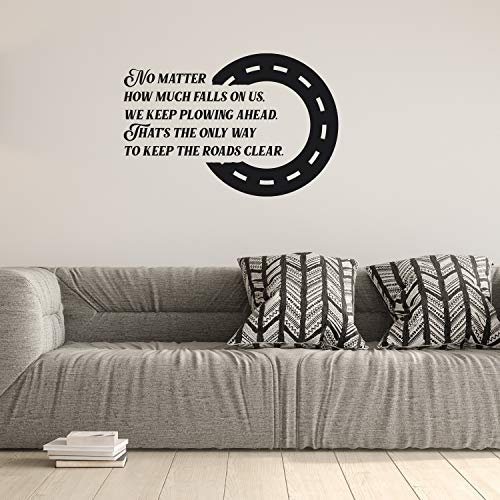 Viiry Wall Sticker Motivational Waterproof Large Bedroom Inspiring Saying Premium Waterproof - Wall Sticker Decorative for Theme Party Navy Blue 134 x 92 inches