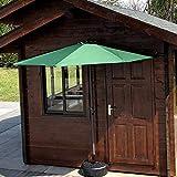 LYYJIAJU Parasolparasol Terrazze e Giardini 2.7m / 9ft Ombrellone Outdoor Patio semicircolare Mezza Ombrello con Crank, Perfetto for Piccoli spazi Terrazza Balcone, 5 Rib