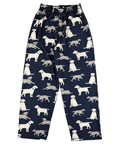 Lazy One Animal Pajama Pants for Men, Men's Separate Bottoms, Lounge Pants, Dog, Puppy (Labs, X-Large)