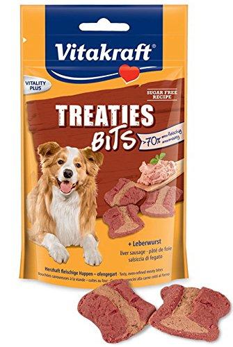 Vitakraft hondensnack vleesachtige happen, kachelgart treaties bits, 120 g